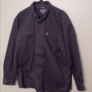 Men's Carhartt Heavy Duty Work Shirt Sz XL